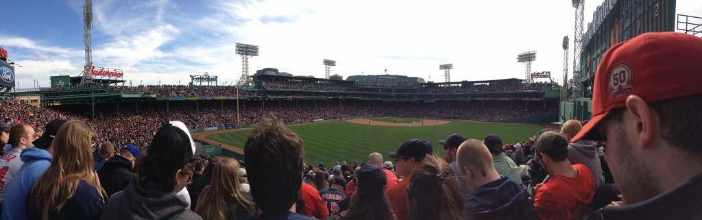 Deep center at Fenway